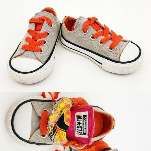 Converse Chuck Taylor All Star High top, Double Laces Orange